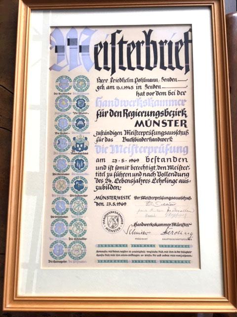 Master Bookbinder Certificate